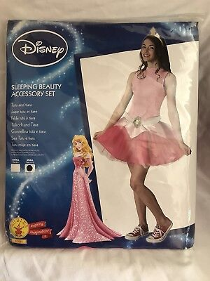 Aurora Tutu Set Ladies Teens Fancy Dress Disney Princess Costume Accessory Kit