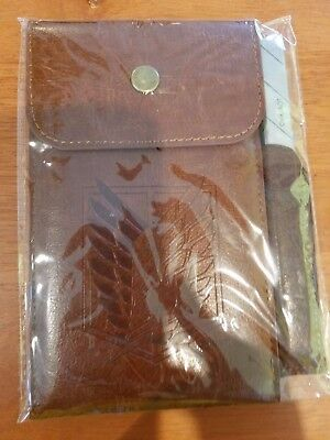 Loot Anime Attack On Titan Leather Pouch Notebook Carpenter Pencil Loot Crate
