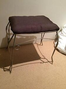 vintage refurbished stool with brown silk cushion, chair, Subiaco Subiaco Area Preview