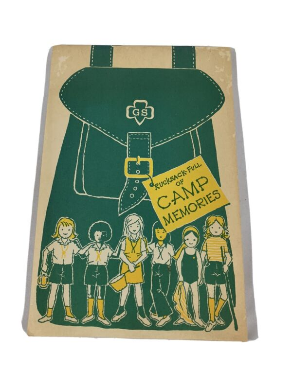 Girl Scout Rucksack Full of Camp Memories Notebook Never Wriiten In Vintage