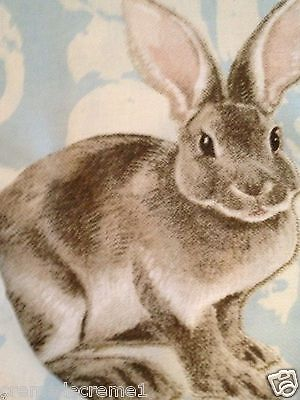 Williams Sonoma Easter Bunny Damask 70X108 Tablecloth Nwts