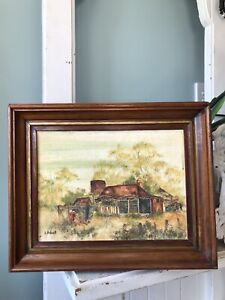 Original Painting 'Feeding the Chickens' Wall Art By G. Bolwell