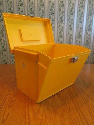 Vtg. Plastic Esselte Pendaflex Portable Hanging File Box Oxford Mcfile Storage