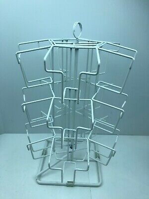 15 Pockets Spinning Display Rack Triple Tier Greeting Post Card Recipe - Clean