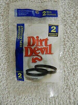 Dirt Devil Replacement Vacuum  Belts (2) Part# 3-701260-001, Style 2 001 Replacement Vacuum Belt