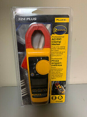 New Fluke 324 Plus Professional True Rms Acdc Clamp Meter Temperature Volt