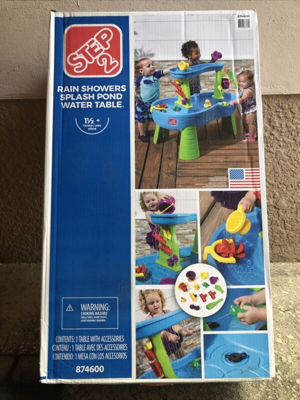 Kids Water Table Step2 Rain Showers Splash Pond Water Table Play Set Games 13Pc
