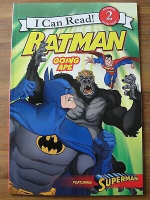 I Can Read! BATMAN GOING APE Level 2 Book Brand New Superman Gorilla Grodd