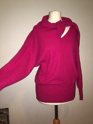 IBlues (max mara) Italian Wool Angora Fuschia Pink Slouch Jumper Sz M
