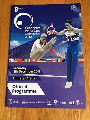 COLLECTABLE PROGRAMME- GLASGOW WORLD CUP GYMNASTICS 2012 USED CONDITION