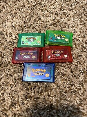 Pokemon Gameboy Advance REPRODUCTION (FireRed, Ruby, Emerald Sapphire Leafgreen