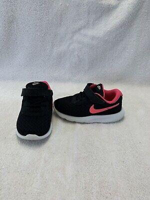 Nike Tanjun Run Infant/Toddler Girls Pink/black Shoes--size 8 C