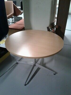 Round Conference Table With Metal Base