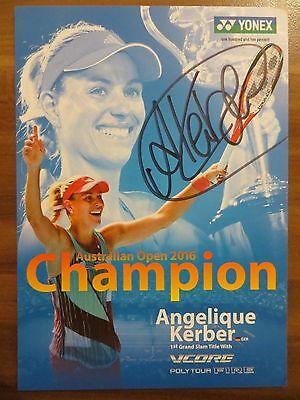 Handsignierte Autogrammkarte *ANGELIQUE KERBER* Australien Open Siegerin 2016 #7