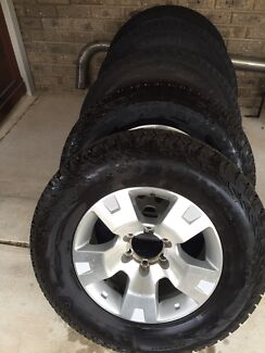 nissan patrol 17 inch alloy wheels and tyres