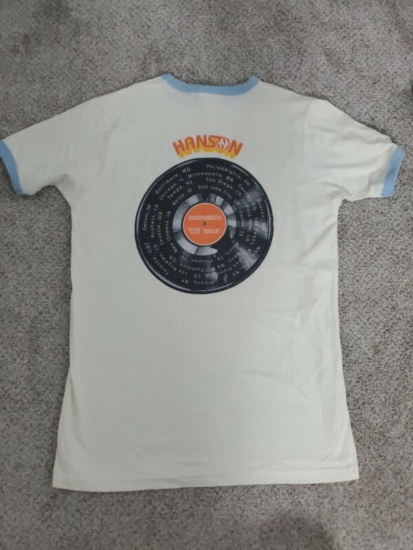 Vintage Hanson Tour T-Shirt 2003 - adult size small - RARE BAND FIND