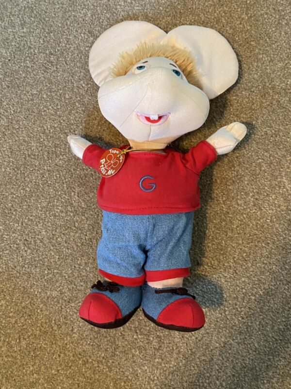 Topo Gigio Talking Plush Mouse Battery operated Says 5 phrases in Spanish Works