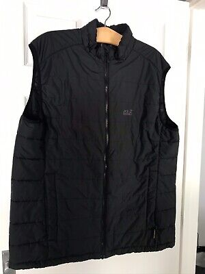 Mens Jack Wolfskin Padded Gilet XL. Black. Worn A Couple Of Times