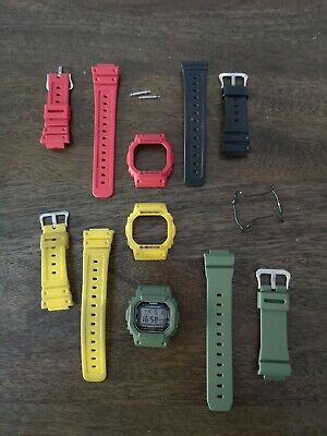Casio G Shock DW5600 Collection - Multiple Bezels + Straps + Bullbar