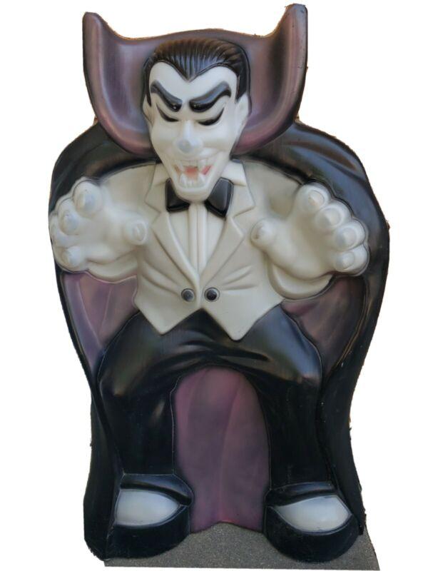 "Vintage Count Dracula Vampire Halloween Lighted Blow Mold 36""  HUGE"