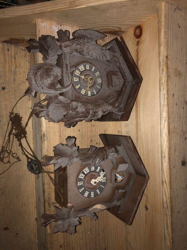 Two Vintage Cuckoo Clocks