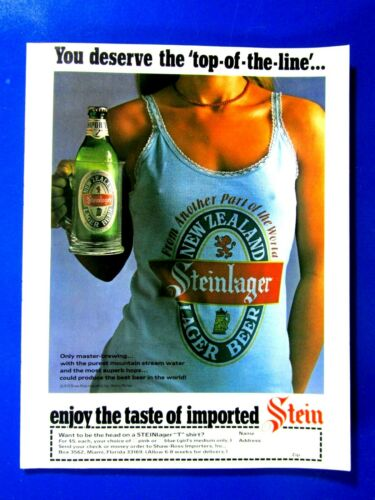 """Steinlager You Deserve The Top Of The Line Original Print Ad 8.5 x 11"""""""