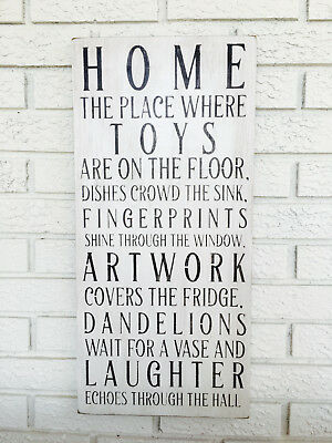 Used, Home Sign, Family Home Sign, Home Sweet Home, New Home Gift, Housewarming Gift for sale  Shipping to Canada