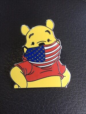 "Disney Pin Winnie The Pooh In Mask WDW 1 3/4"" pin. Flag Fantasy Pin"