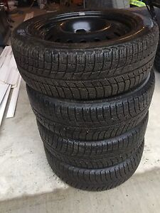 Michelin X-Ice 215/55R17 80% - Rims 5x114.3 bolt pattern