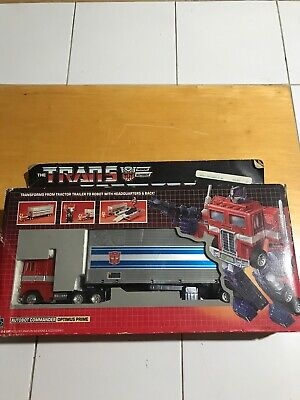 Hasbro Transformers G1 Optimus Prime! 80% Complete! In Box! Excellent Cond.!