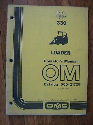 Mustang Omc 330 Skid Loader Operators Manual