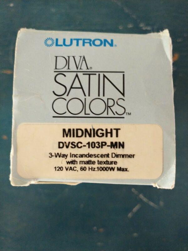 LUTRON - DVSC-103P-MN 600W 120V 3-WAY DIVA INCANDESCENT PRESET DIMMER BLACK