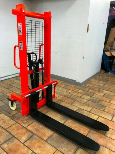 PALLET JACK MANUAL STACKER 1,500 lbs Capacity Adjustable Forks Handy Warehouse