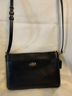 Coach Navy Textured Crossbody Purse