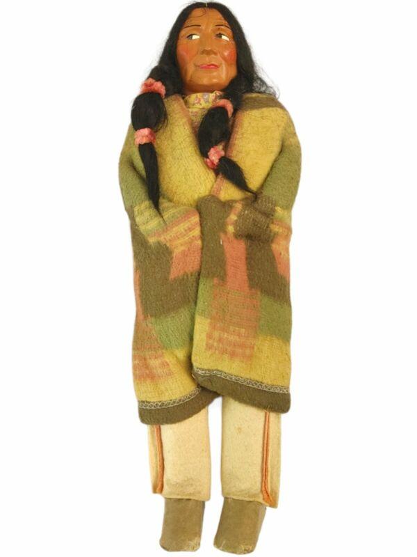 "Antique Skookum Indian Doll- 15"" Chief- Native American"
