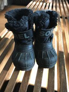 Black Sorel Boots Toddler size 6