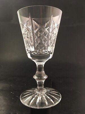 """Edinburgh Crystal Highland Wine Glass Goblet 5.25"""" Tall Highland Wine Crystal"""