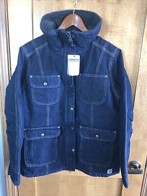 Carhartt 102247 Heritage Blue Weathered Jacket Duck Wesley Coat Fur Lined XLarge