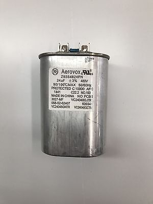 Capacitor 24uf 480v 5060hz Oil Filled By Aerovox New