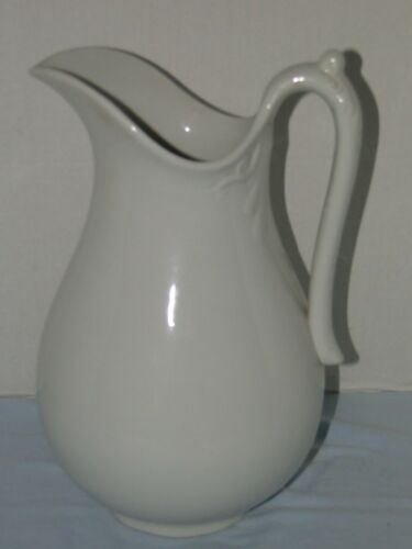 ANTIQUE ROYAL CHINA INTERNATIONAL LARGE WHITE PORCELAIN PITCHER