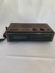 Vintage Panasonic Radio Digital Alarm Clock AM FM RC 6115 Wood Cabinet Look