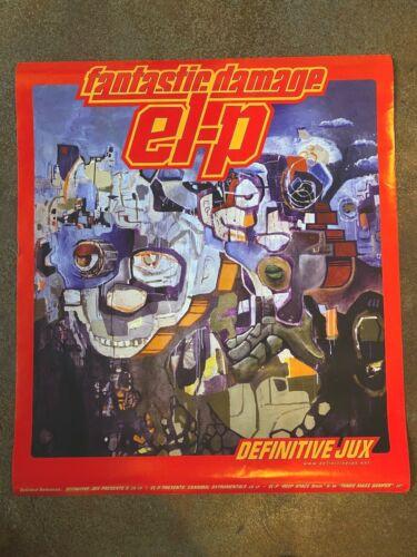 VINTAGE El-P Fantastic Damage LP Poster OG 23.5x27 Company Flow Run The Jewels