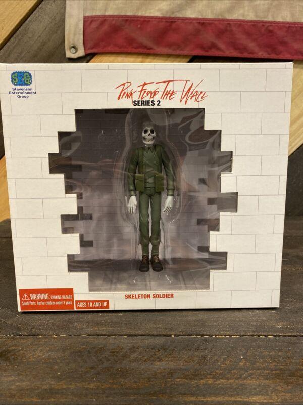 """Vintage pop Pink Floyd figure toy """"Skeleton Soldier"""" The Wall series 2"""