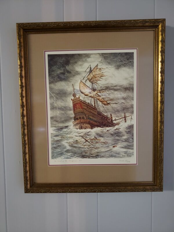 Rare Authentic Concepcion Duke Long Shipwreck Drawings Of Artifacts