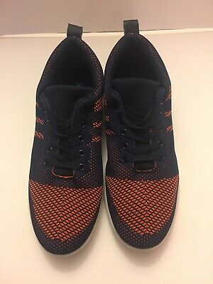 Men Starter Low Top Tennis Shoes Lace-Up Size 9 - 9 1/2 Orange and Blue Used ()