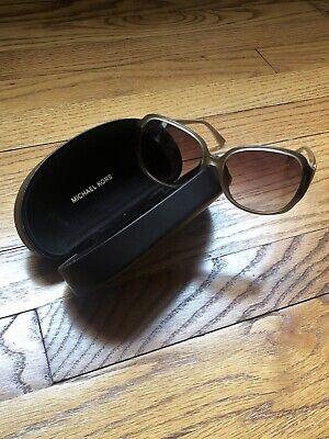 Michael Kors Oversized Sunglasses Gold Detail Turtle Brown Women Manhasset