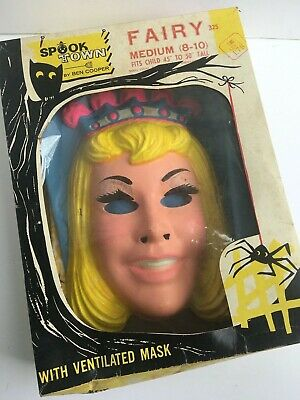 Vintage 1960s Ben Cooper Spook Town Halloween Costume Fairy Complete/w box