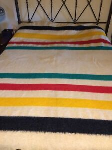 Vintage Trapper Point Wool Blanket