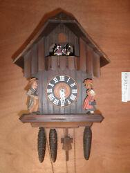 Cuckoo Clock German SEE VIDEO Black Forest Schneider Chalet 1 Day CK2327