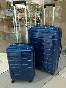 Samsonite Spin Trunk Suitcase Set: Spinner 75cm&55cm BLUE 65% Off Ormond Glen Eira Area Preview